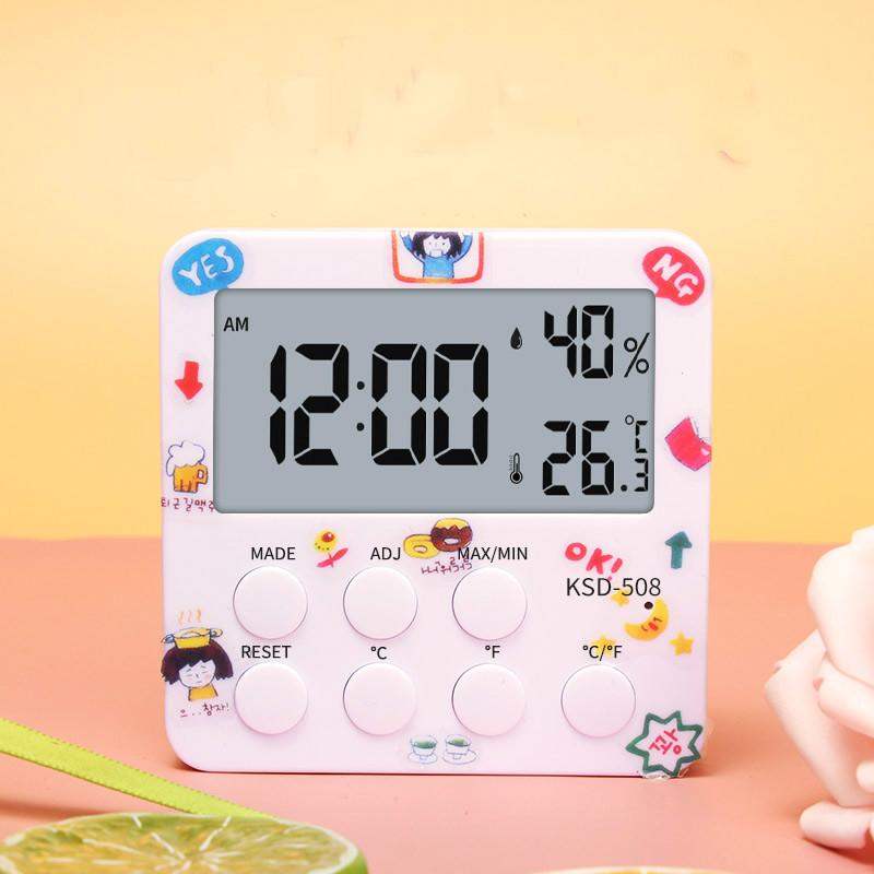 电子闹钟学生用智能卡通小网红女孩桌面儿童床头静音时钟起床神器
