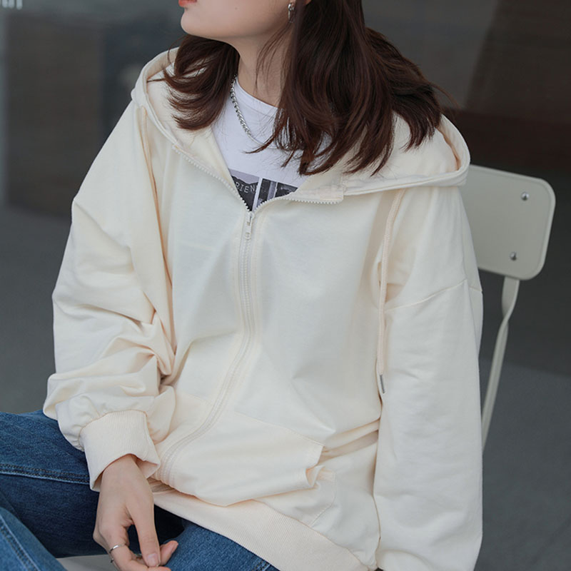Kasuga春日酱女装印花连帽上衣