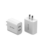 Onda USB charger charging head 2.4A dual-port USB fast charging mobile phone charging head power adapter is suitable for all models of mobile phones