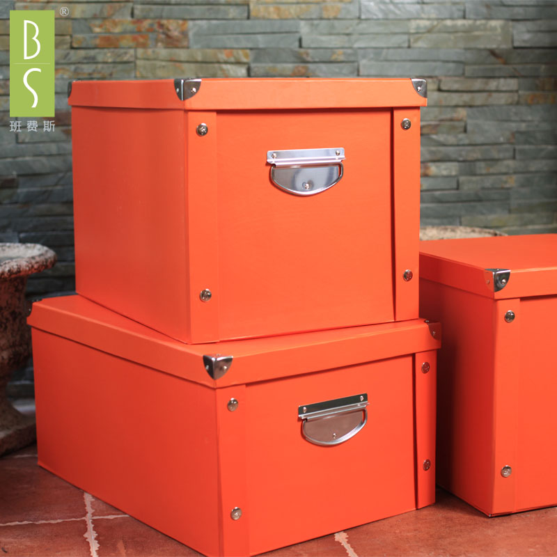 新品玩具收纳箱储物箱可折叠整理箱纸盒纸质衣服文具车用收纳盒