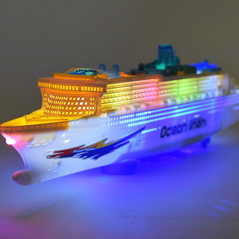 Бесплатная доставка электрический свет, музыка универсальный большой размер роскошь тур круглый модель пароход быстро ремесло ребенок электрический игрушка