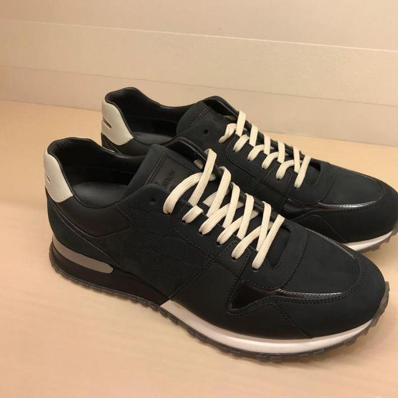 Демисезонные ботинки Покупая обувь Луи витон Луи Виттон для мужчин Новый  Мужской плед кожаный ремешок случайные кроссовки f711737e20c