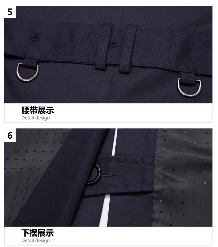 Mùa xuân và Mùa Thu Châu Âu và Hoa Kỳ cá tính Slim hàng duy nhất người đàn ông Hàn Quốc áo gió kinh doanh bình thường phần dài cộng với phân bón XL áo khoác