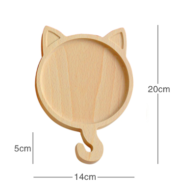 TWO GOODS CAT PLATE (DIAMETER 14CM)