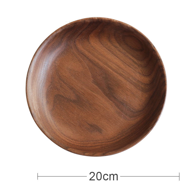 [LARGE] BLACK WALNUT ROUND DISC (20CM IN DIAMETER)