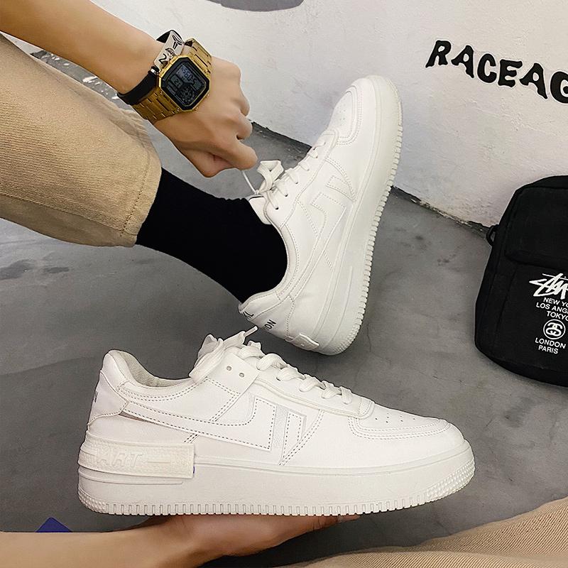 男鞋2020新款秋季潮流小白鞋男士韩版百搭板鞋空军一号鞋子男潮鞋