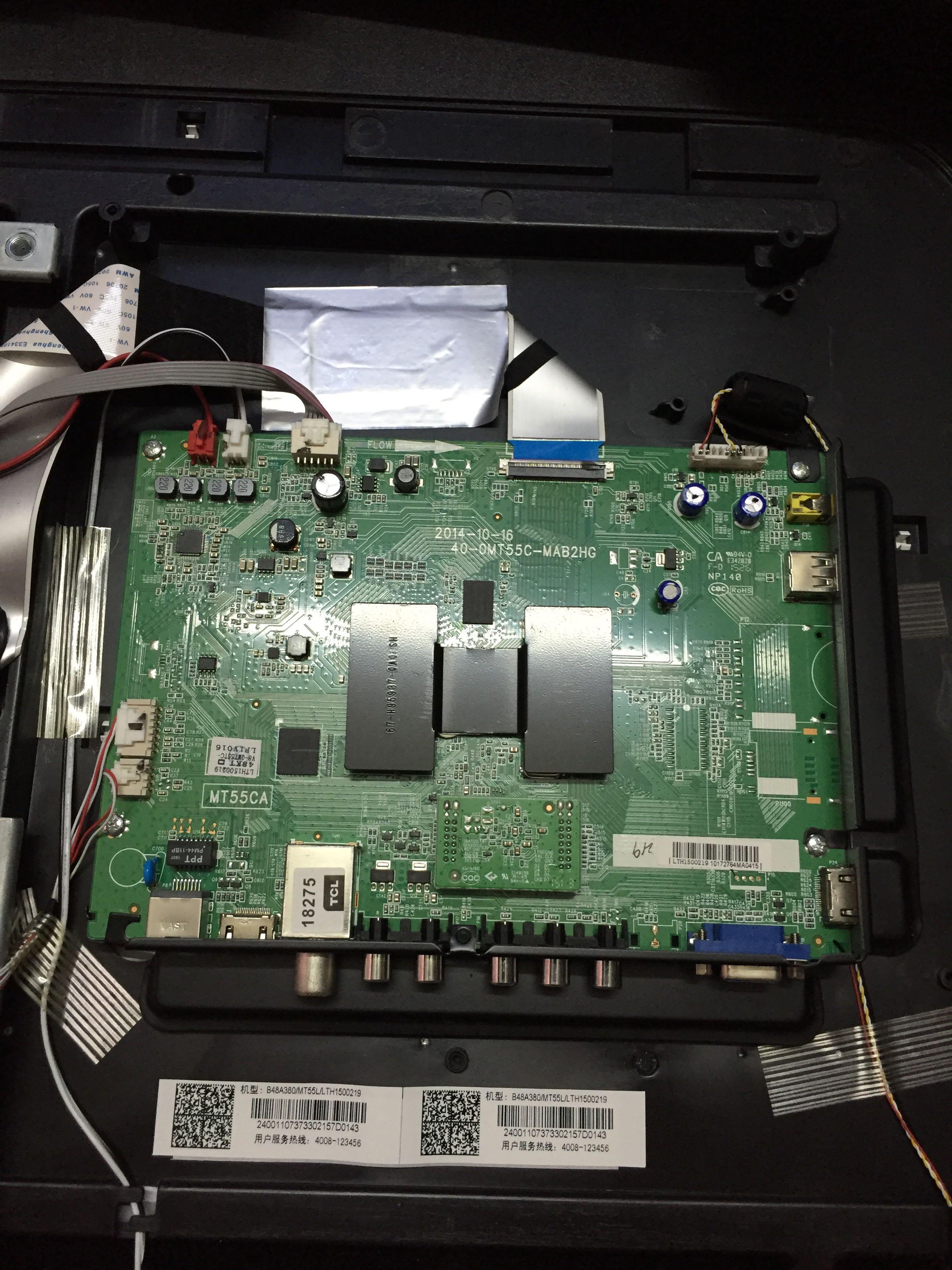 原装TCL B48A380 主板 40-0MT55C-MAB2HG 屏 LVF480CSOT E25 V1