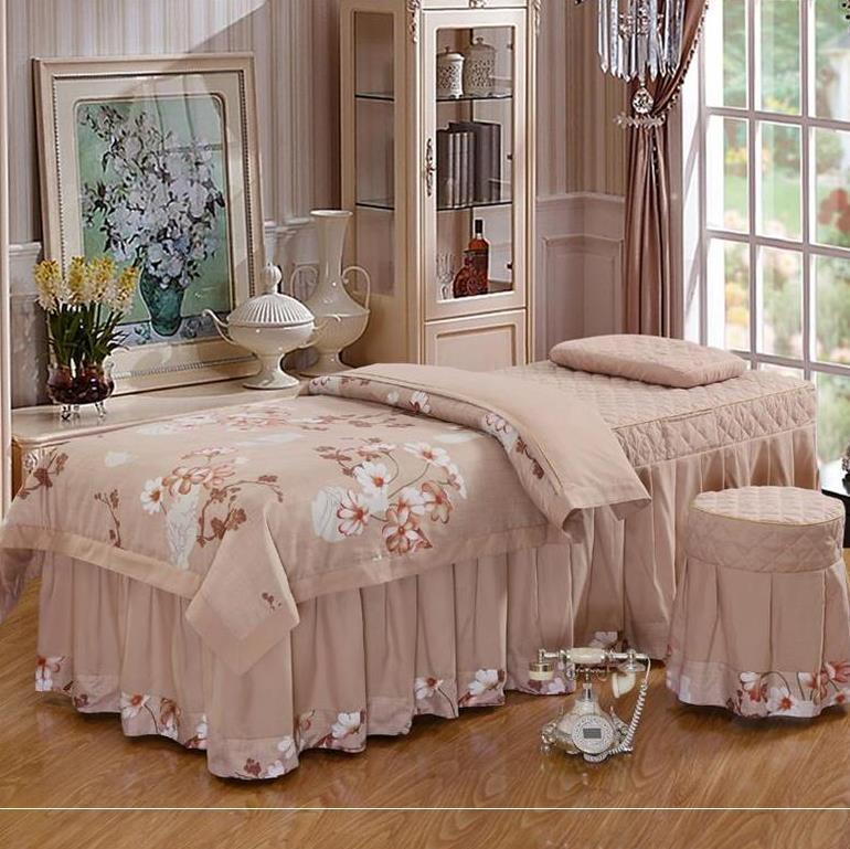 Bộ đồ giường đẹp bốn mảnh về mồ hôi cao cấp hấp xám kiểu nông thôn chân mẫu thêu da thêu đẹp quản lý - Trang bị tấm