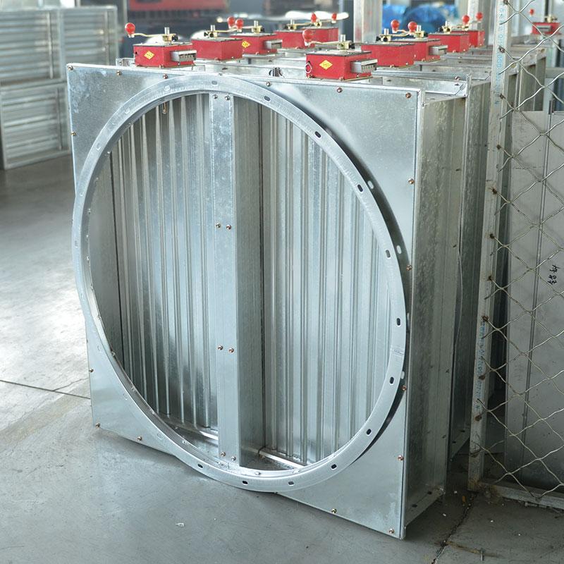 不銹鋼防火閥方形圓孔
