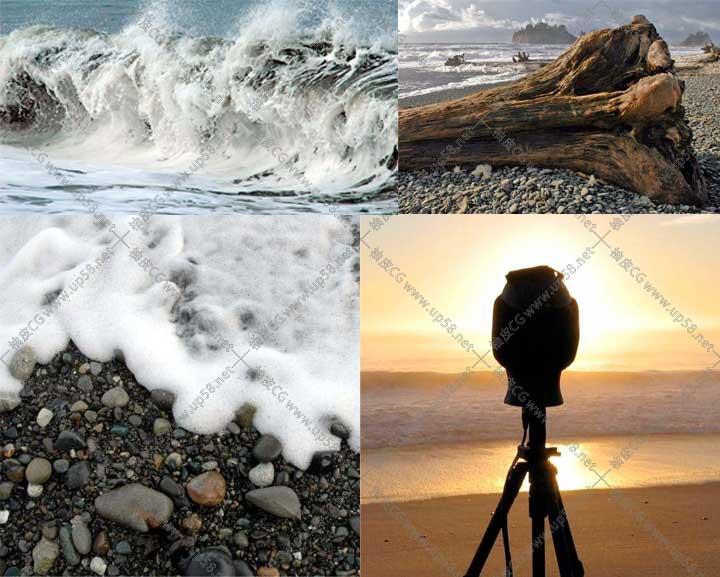 浪花波浪水涌动飞溅拍击岩石巨浪汹涌 WAV高品质无损音效素材库
