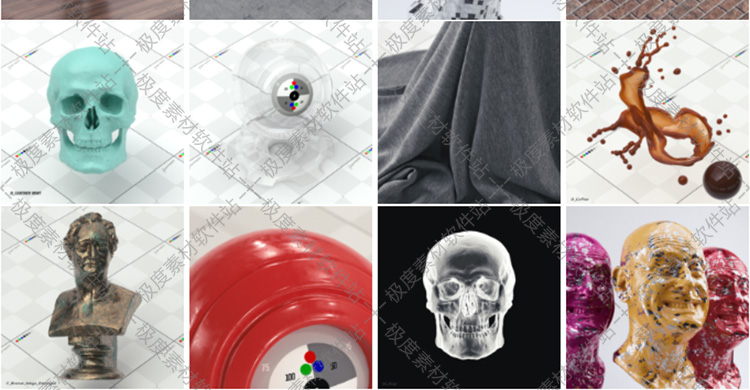 OC 阿诺德 Redshift渲染器 室内装饰工业设计C4D材质球材质库4K贴图预设