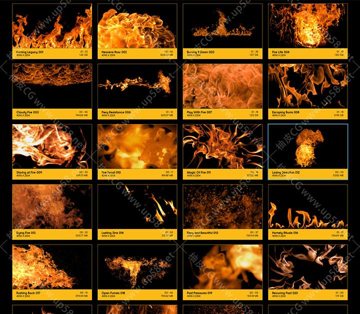 真实火焰火苗火舌燃烧动画 4K高清后期VFX特效合成视频素材