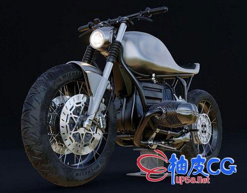 3DSMAX - BMW R100R豪华摩托车3D模型