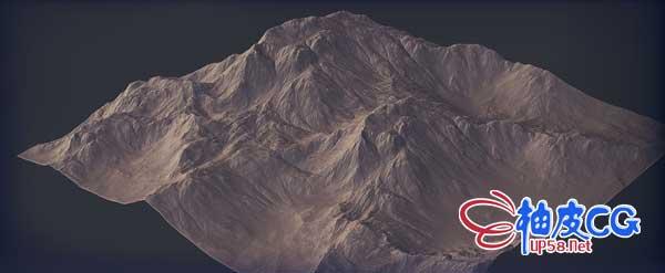 山脉地形高度高精度置换贴图 Terrain Height Maps