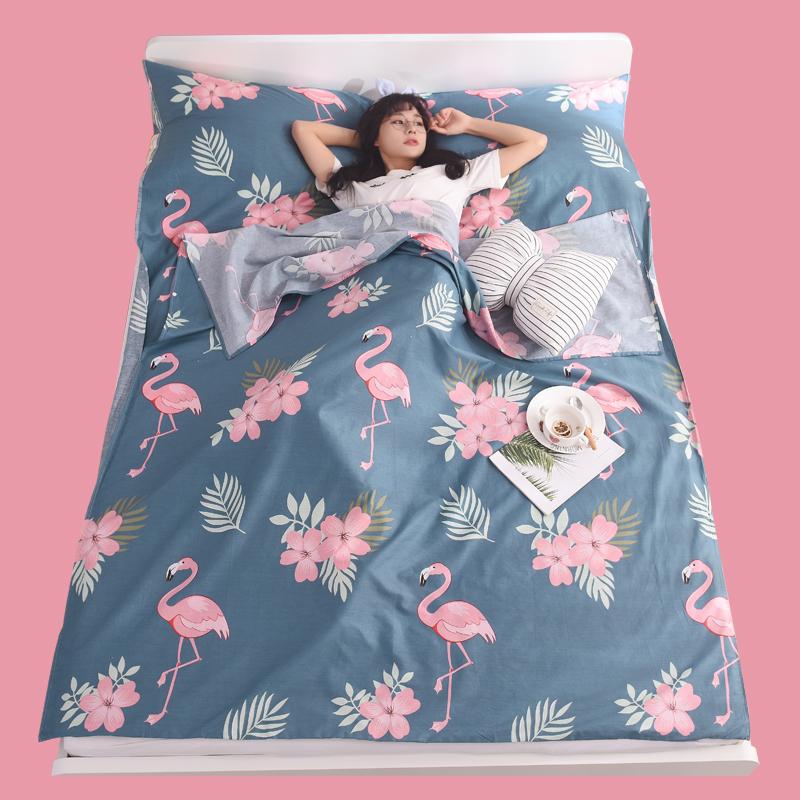 住酒店隔脏睡袋纯棉便携式旅行床单成人室内宾馆出差防脏单人被套