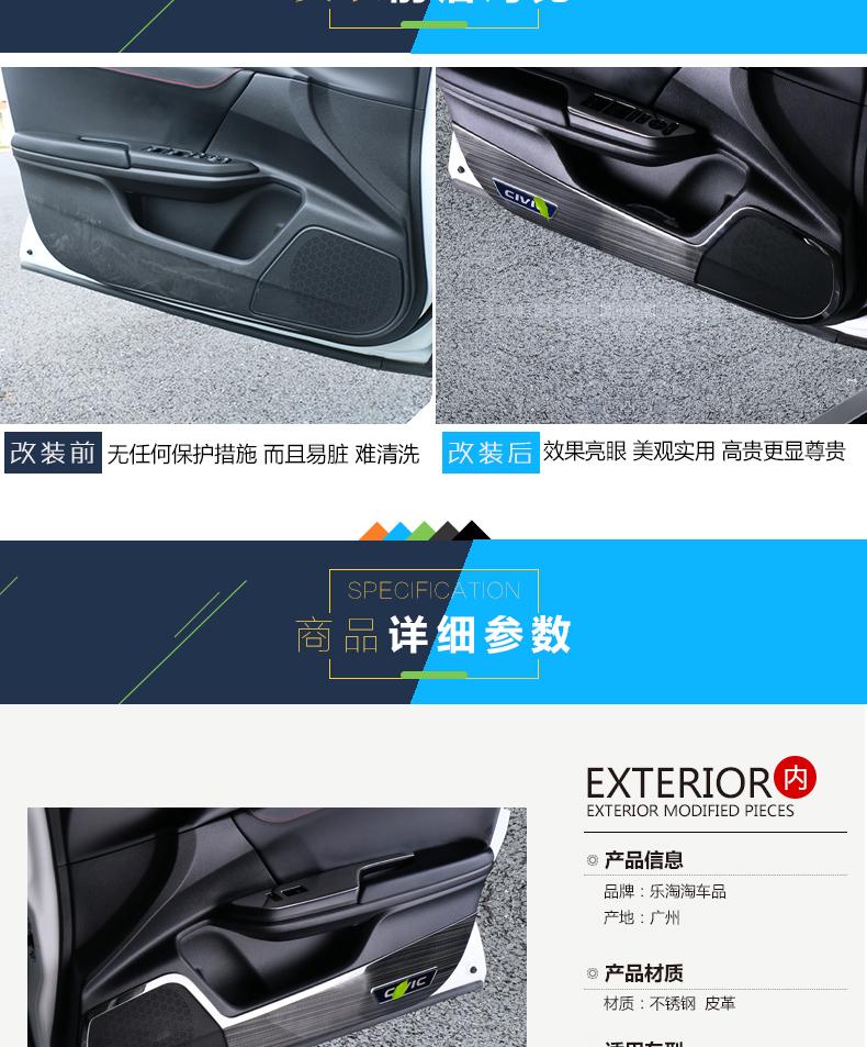 Tapli cửa thép không gỉ Honda Civic 2018 m2 - ảnh 7