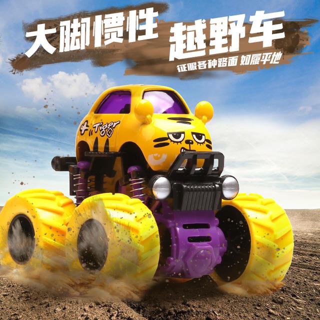 4WD SUV boy mô hình xe chống ngã quán tính hợp kim đồ chơi xe hoạt hình doodle xe - Đồ chơi điều khiển từ xa