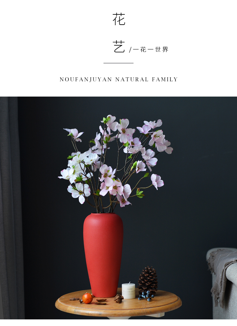Morandi ceramic vases, creative the adornment that occupy the home furnishing articles sitting room TV ark, flower arranging northern wind table decorations