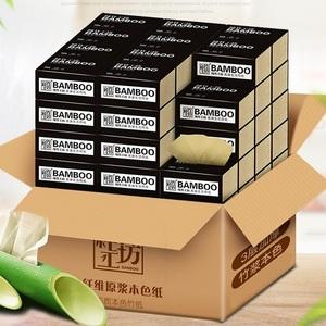 【純竹工坊】竹漿本色抽紙整箱18包
