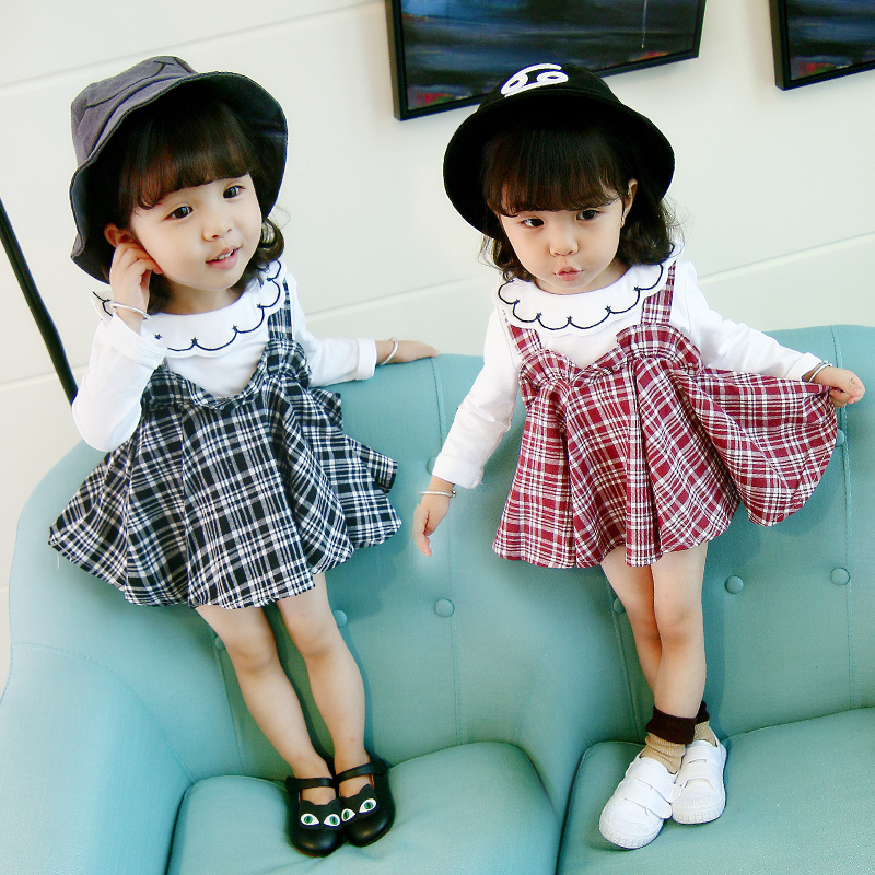 4a5d86ed8 2018 new autumn children's clothing 1-2 years old female baby dress 0 girls  spring ...