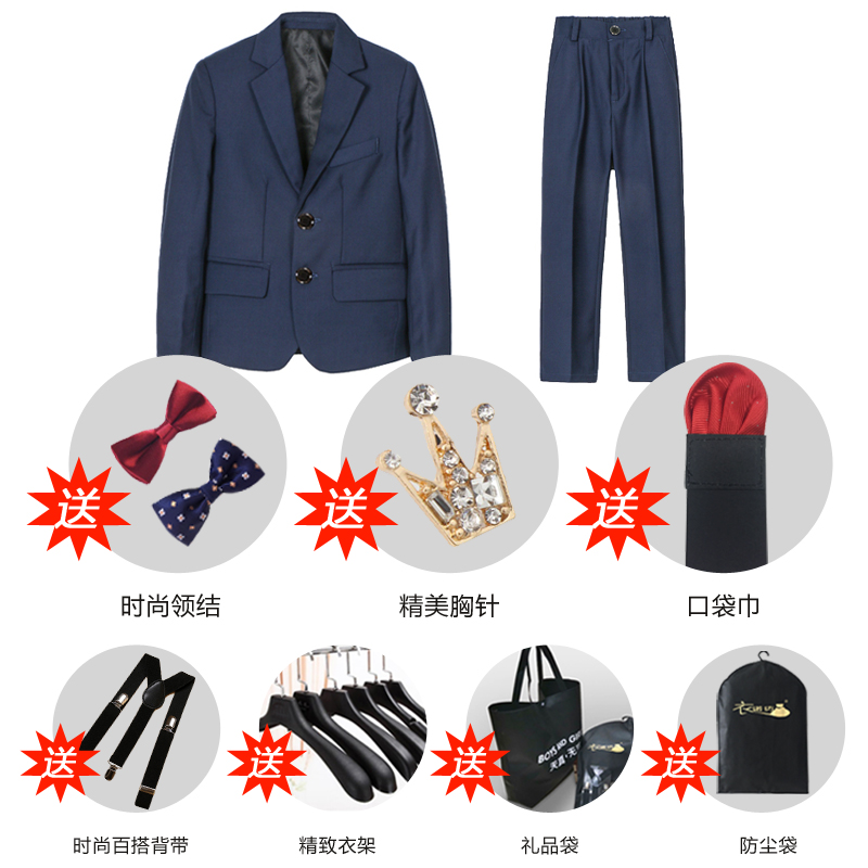 Navy 1 (suit + Trousers + Two Bow Ties + Send Accessories)