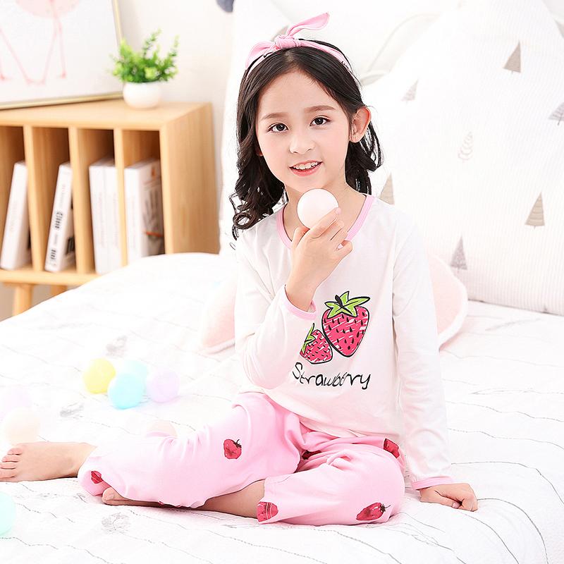女童睡衣春秋纯棉长袖甜美公主中大童小女孩全棉套装儿童家居服秋