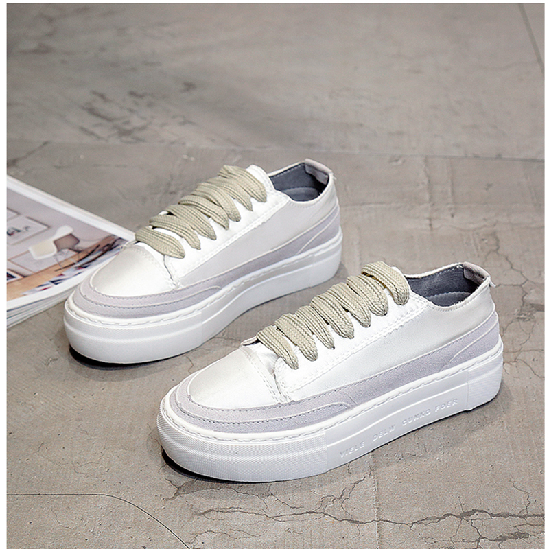 XWWDVV Spain niche shoes casual versatile canvas shoes new thick bottom flat white shoes women 61