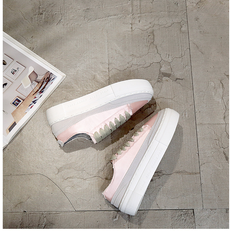 XWWDVV Spain niche shoes casual versatile canvas shoes new thick bottom flat white shoes women 65