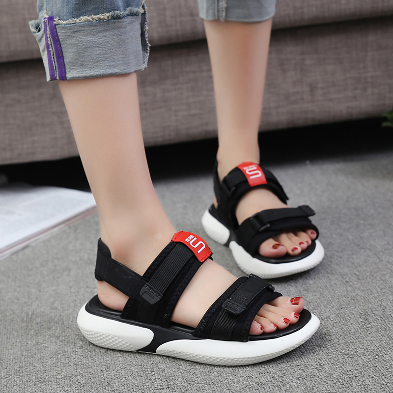 Summer 2018 new flat sandals female students wild magic stickers casual shoes. 58