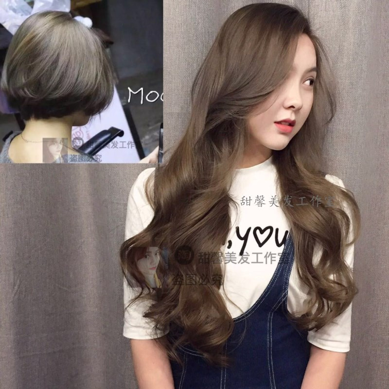 Background Color Determines The Effect Dark Gold Chestnut Cover White Hair After Dyeing Care Mask 6 Small Brown