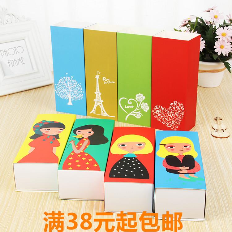 烘焙包装马卡龙盒6粒装卡通曲奇饼干盒牛扎糖盒50G月饼包装盒包邮