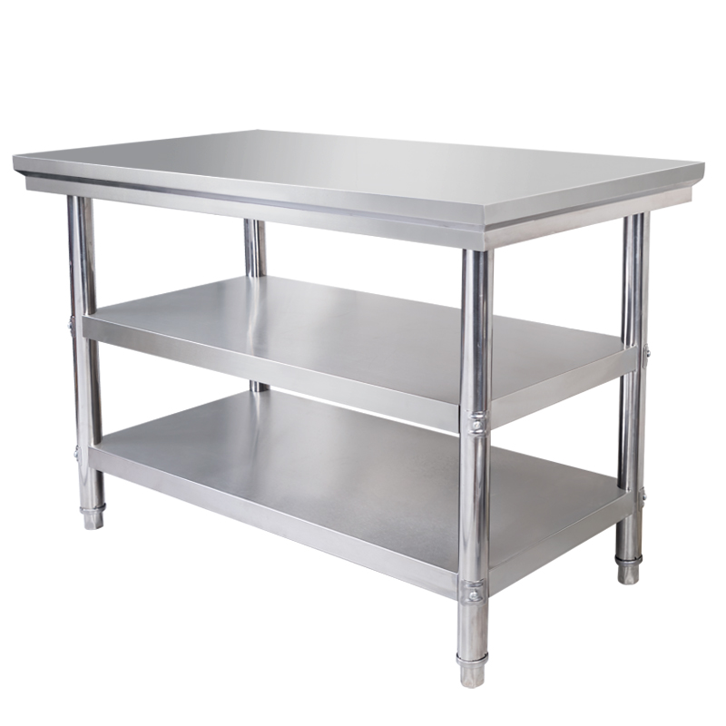 USD 55.71] Stainless steel three-layer console hotel kitchen ...