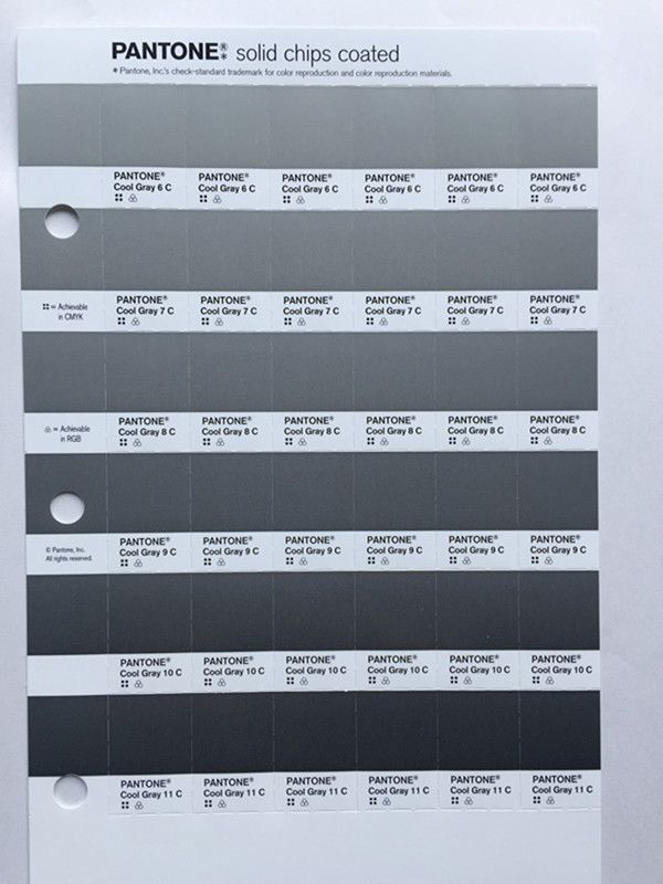 Usd 2154 Pantone Color Card Single Page Metal Color Cu Color Card