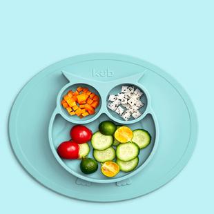 可优比宝宝餐盘分格餐盘吸盘碗辅食碗
