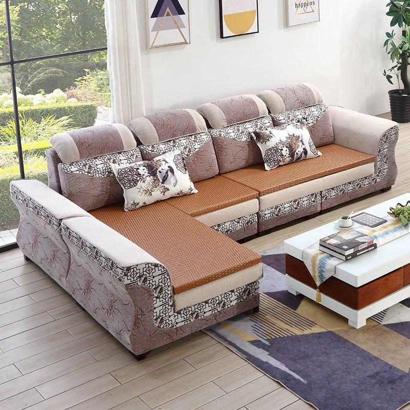 轻奢布艺沙发冬夏大小加藤板简约现代贵妃可拆洗户型两用客厅v大小