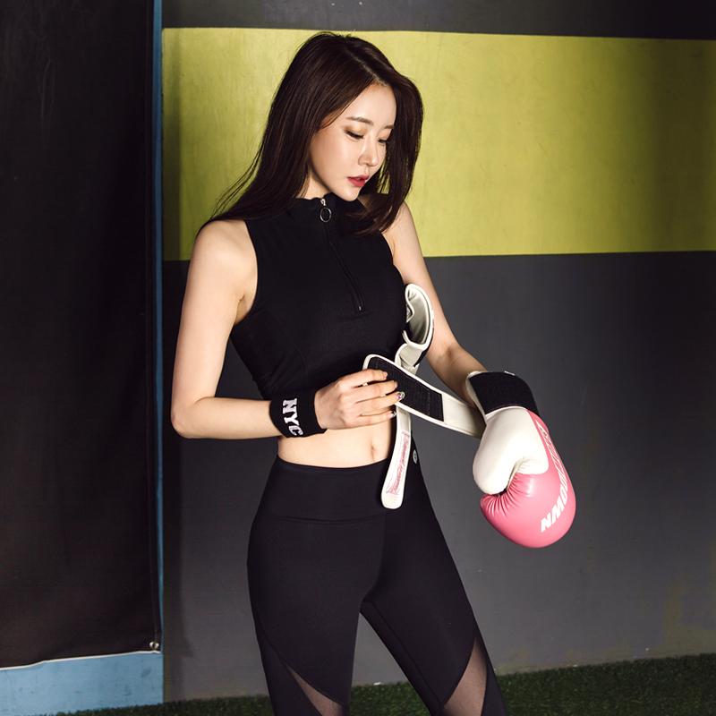 韩国春夏瑜伽服上衣女运动短袖健身长袖紧身瑜伽裤速干晨跑运动裤