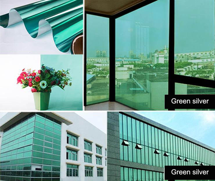Mirror window film one way silver tinting solar reflective for 2 way privacy window film