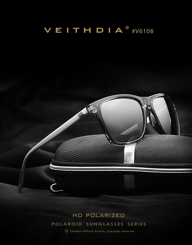 28d850207b Veithdia Mens Fashion Retro Polarized UV400 Sunglasses Sports ...