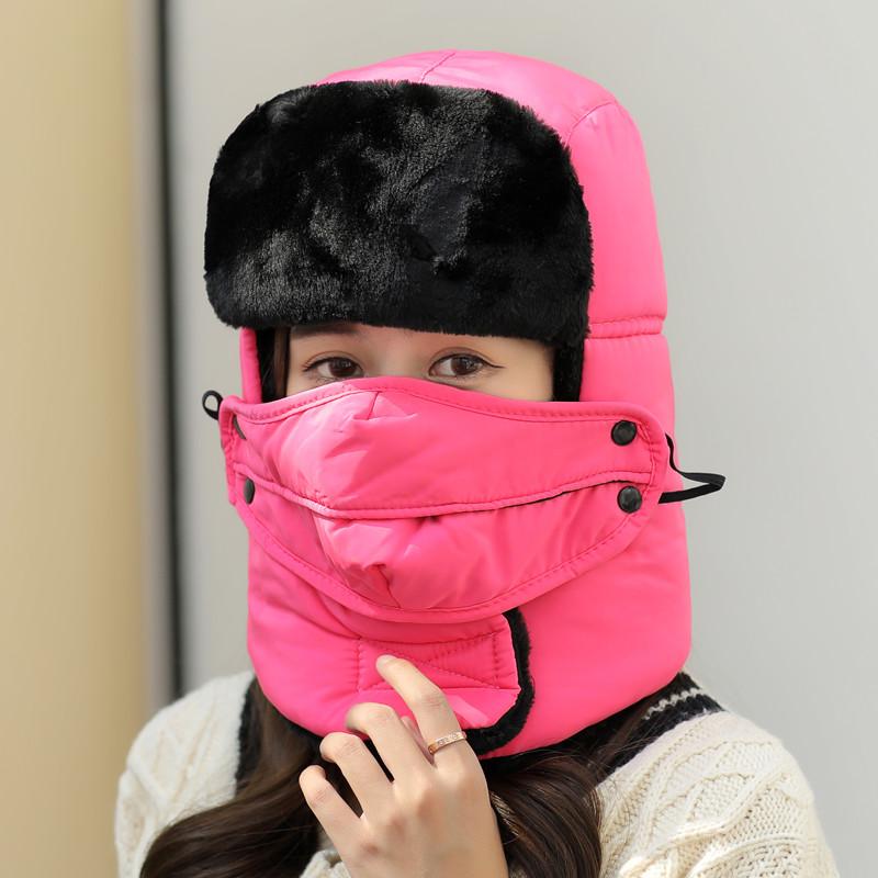 冬季保暖雷锋帽女加厚防风户外男女东北棉
