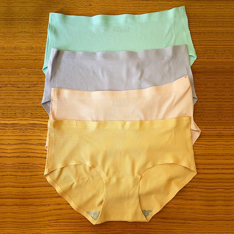 4条装【透气螺纹】冰丝无痕内裤