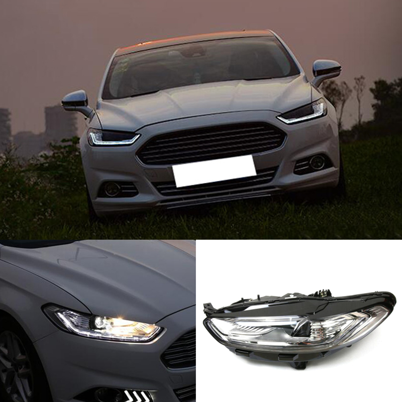 For Ford Fusion Mondeo 2013 2016 Drl White Led Headlight