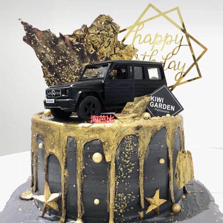 Usd 11 59 Scene Car Cake Decoration Ornaments Alloy Black Big Benz