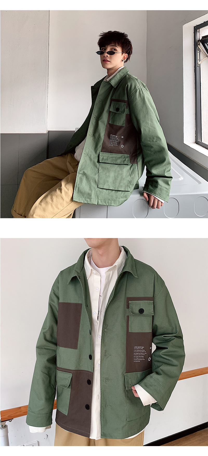 2020秋款夹克外套男女情侣款工装夹克外套DSA087-JK17-P70