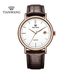 King watch authentic fashion watch men's belt watch simple leisure quartz watch 3874