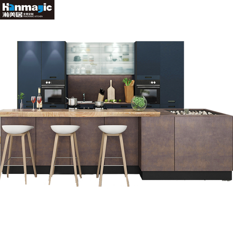 Han Meiju overall cabinet custom imported EGGER kitchen cabinet Quartz countertop kitchen decoration cabinet custom