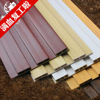 204-195 ecological wood big Great Wall board wood grain film transfer anti-corrosion waterproofing ceiling wood decorative material