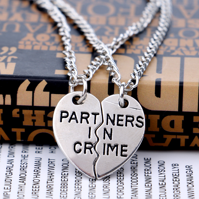 friendship necklace personalised matching necklaces partner jewellery couple