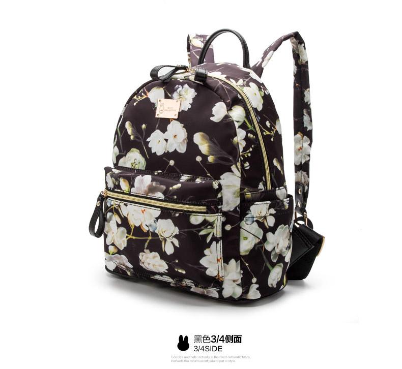 Miffy/米菲新款时尚潮流印花迷彩双肩包 女背包旅行电脑包书包