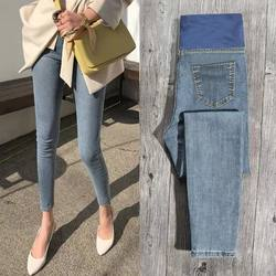 Pregnant women's trousers, autumn outer wear jeans, ankle-length trousers, summer thin trousers, leggings, spring and autumn clothes, tide moms
