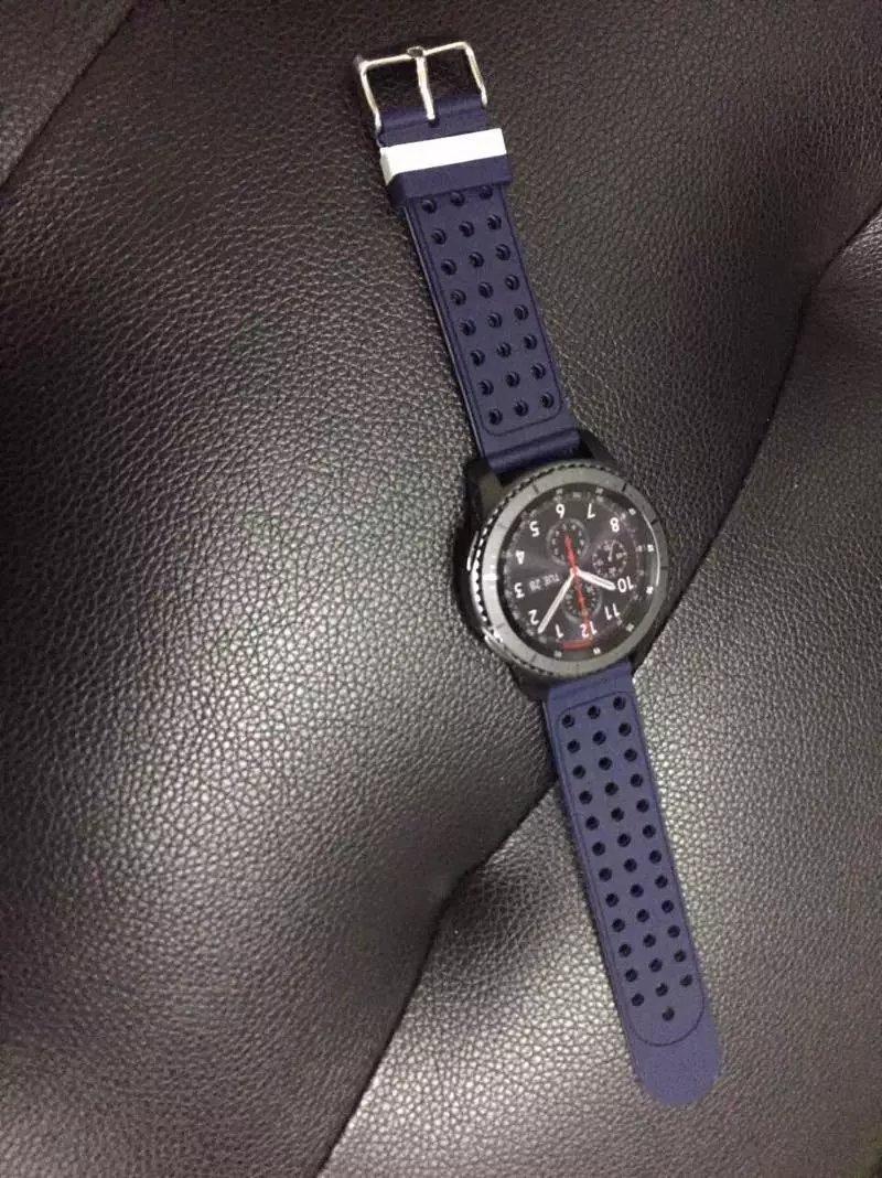 72H出貨 佳明 Vivoactive 4 手錶帶 雙色矽膠 替換錶帶軟 22mm 智能手錶帶 撞色硅膠 透氣防水 運動型手錶帶